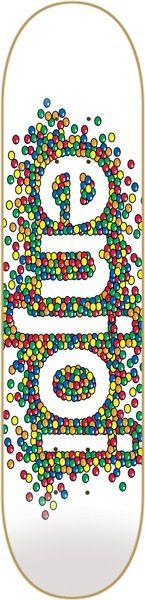 "Enjoi Candy Coated White Skateboard Deck - 8.25"" x 31.9"" - Enjoi Skateboards Decks - Warehouse Skateboards Skate Shop"