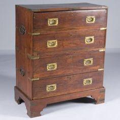 British Colonial campaign chest antique # liveauctioneers.com