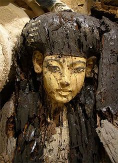 Egyptian coffin from tomb KV63, 1337-1334BC.  Museum of artifacts