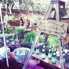 Italian Soda Bar with Rustic Theme