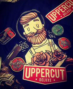 Freebies from the @barbercraftnz expo! Cheers @uppercutdeluxe  #barbercraft #kingbrown #reuzelpomade #barber #barbers #pomade #fade #freeshirt #sundayfunday #beard #beards #stickers #uppercutdeluxe #barberlife #barbershop #tattoo #roses by hairbybianca_k