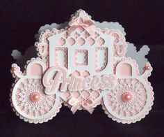 Princess Carriage Card CraftROBO Cameo on Craftsuprint designed by Tina Fitch - A beautiful fully freestanding Princess Carriage card.. it's stunning as you can see and would be well received for that Special Day! Fully Silhouette Cameo Compatible - Now available for download!