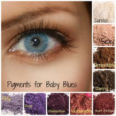 Younique eye pigments for those Baby Blues! #blueeyes #pigment #younique https://www.youniqueproducts.com/christinalynnkelly
