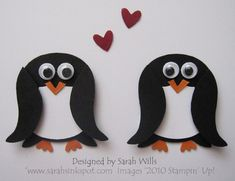Use your owl punch to make penguins ~ http://sarahsinkspot.com/blog/use-your-owl-punch-to-make-penguins