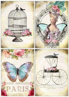 5 x Inch Images Collage Sheet by Debrina Pratt - Images Vintage, Vintage Tags, Vintage Labels, Vintage Ephemera, Vintage Pictures, Vintage Paper, Vintage Postcards, Vintage Prints, Etiquette Vintage