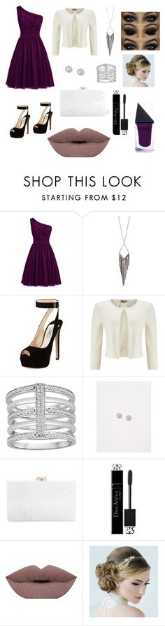 """""""Evening Event"""" by mila-cvetanovska ❤ liked on Polyvore featuring Jules Smith, Prada, Phase Eight, Lane Bryant, Charlotte Olympia, Christian Dior and GUiSHEM"""
