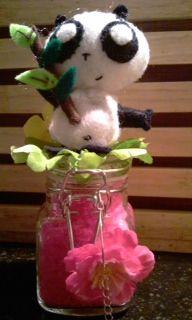 Vilt panda kado fles Made@Home by Roos!