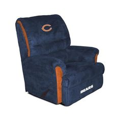 Perfect Chicago Bears Recliner With Ottomon @coreylanderson | Da Bears | Pinterest  | Chairs, The Ou0027jays And Office Chairs