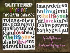 iLoveToCreate Blog: MAKE IT: Glittered Quote Art Canvas!