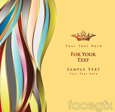 Fashion line vector secondary graphics Crown