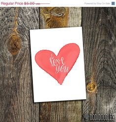 65% OFF SALE I Love You Printable Instant Download by dodidoodles