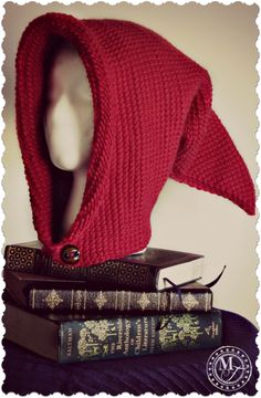 Crochet Stitches Tunisian Pixie Hood - Tunisian Crochet Fantasy Hood - Free Pattern from Morale Fiber - Free Pattern for the Tunisian Crochet Fantasy Hood – easy, versatile pattern for costumes, renaissance fairs, festivals, or just for fun. Crochet Hood, Crochet Yarn, Free Crochet, Crochet Geek, Lace Knitting, Crotchet, Hood Pattern, Free Pattern, Tunisian Crochet Patterns