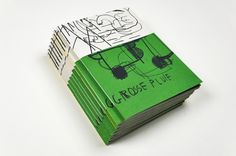 Grosse pluie Screen printed book by Marion Jdanoff and Damien Tran 17 x 24 cm 48 pages Edition of 50 December 2015 Printed Matter, Textile Prints, Bibliophile, Printmaking, Screen Printing, Illustration Art, Graphic Design, Paper, December