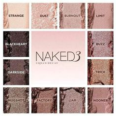Urban Decay Naked 3 pallette. Can't wait for this release. #ud #urbandecay #naked3 #theperfect3some @Urban Decay