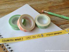 Washi tape y papeles de scrapbooking en español