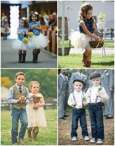 tenue de mariage en jean pour le cortège