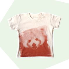 Kid's Tee Shirt, Red Panda, Screenprinted, Organic Cotton
