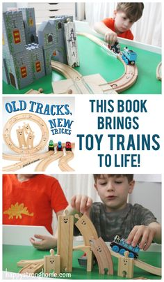 Innovative train book brings new life to old toy trains! Old Tracks, New Tricks is a sweet story about getting along AND a book filled with activities to use your toy trains and tracks in new and exciting ways! (PLUS our Tracks Snacks recipe in this post! (sponsored)