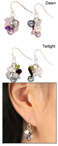 Fresh Water Pearl earrings, I think I like dawn a little better but it's very hard to decide!