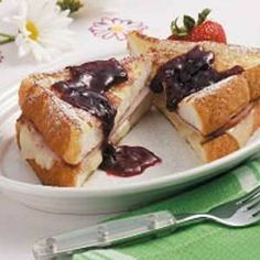 French Toast Supreme Recipe from Taste of Home. I often use thick slices of French bread or homemade white bread when fixing these sandwiches. I served them with a fresh fruit salad at brunch, and everyone asked me for the recipe. Its easy to double or triple for a hungry crowd.