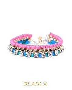 Frances pink bracelet