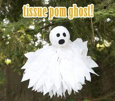 Tissue Paper Pom Ghost