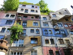 (Hundertwasserhaus Wien) is an apartment house i ,The Hundertwasser House Vienna. (Hundertwasserhaus Wien) is an apartment house i , Friedensreich Hundertwasser, Best Places In Europe, Cool Places To Visit, Terrain Constructible, Unusual Buildings, Famous Buildings, Interesting Buildings, Clermont Ferrand, Austria Travel