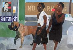 """Henry Taylor  """" walking with Vito 2008"""