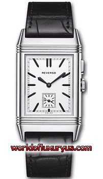 Q3788570 - This Jaeger LeCoultre Grande Reverso Womens Watch, Q3788570 features 46.8mm Polished Stainless Steel case, Silver dial, Black-toned hands, Sapphire crystal, Fixed bezel and a Black Leather Strap. - See more at: http://www.worldofluxuryus.com/watches/Jaeger-LeCoultre/Reverso-Grande/Q3788570/219_257_8411.php#sthash.Uwb0Qugg.dpuf