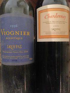 Viognier Skouras 1996 http://www.skouras.gr/wines/whites/viognier-eclectique/  Chardonnay Skouras 2001 http://www.skouras.gr/wines/whites/dum-vinum-sperum/