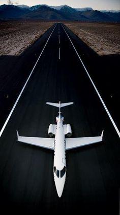 Private jet.