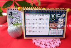 ミャウ卓上カレンダー2016 | ミャウの売店 Miaou Desk Calendar Now on Sale :) #cats #mars #space #猫 #宇宙猫 #宇宙 #火星