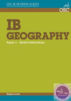 This guide contains a series of exercises to help develop students' knowledge and understanding of Part 3 of the Geography syllabus, the Higher Level extension, Global interactions. ISBN: 9781907374432