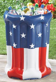 Inflatable Patriotic Summer Beverage Cooler