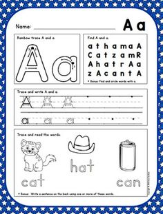 Alphabet writing sheets with highly supportive format to teach proper letter formation and reinforce letter/Sound knowledge. {$}