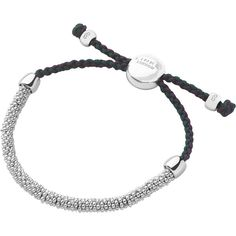 Links of London Wimbledon Effervescence XS Cord Bracelet ($125) ❤ liked on Polyvore featuring jewelry, bracelets, eleanor, accessories, pulseiras, silver star jewelry, links of london jewellery, links of london, silver jewelry and silver jewellery
