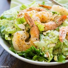 Roasted Shrimp Salad with Buttermilk-Cilantro Dressing - Skinny Ms.