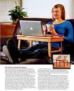 Laptop Desk Plans - Furniture Plans and Projects - Woodwork, Woodworking, Woodworking Plans, Woodworking Projects Woodworking Plans, Woodworking Projects, Desk Plans, Laptop Desk, Furniture Plans, Woods, Projects To Try, How To Plan, Ideas