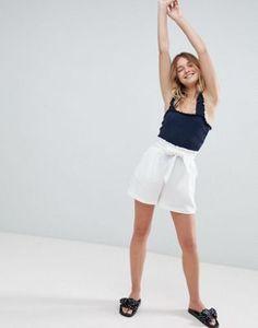 Monki Tailored Tie Waist Shorts