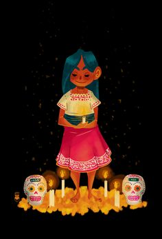 "Today is ""Dia de Muertos"" (Day of the Death) here in my country! this is a ancient celebration (aztec i think) who focuses on remember friends and family members who have died. This is not a funeral or a sad day, is a party that the livings make for..."