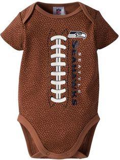 NFL Baby Seattle Seahawks Football Bodysuit