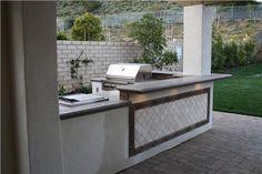 Outdoor Concrete Countertops  Outdoor Kitchen  The Green Scene  Northridge, CA
