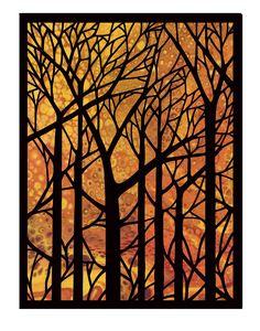 Fused Glass Art, Stained Glass Art, Naive Art, Linocut Prints, Tree Art, Art Sketchbook, Printmaking, Watercolor Art, Photo Art
