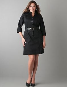 Combining timeless style with easy elegance, our shirt dress with woven belt plays up your hourglass curves. Flaunt your femininity with unique details including a mandarin collar, pintuck pleats and kimono-inspired long sleeves. Button front and hip pockets completes this wear-anywhere look.
