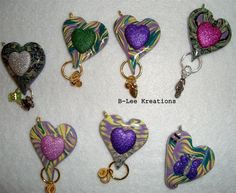 Hearts for The Beads of Courage that we are doing through the Arizona Polymer Clay Guild.