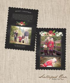Holiday Card WHCC Die Cut Template   Scalloped by frankandfrida
