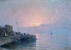 Nicolas De Corsi - Casa di pescatori sulla costa
