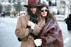 Valentina Siragusa and Eleonora Carisi during New York fashion week - street style