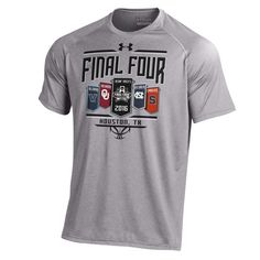 2016 Final Four Basketball Under Armour Banner March Madness Gray T-Shirt