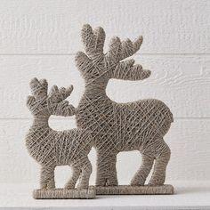 Jute Reindeer Holiday Décor